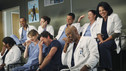 "GREY'S ANATOMY - ""Disarm"" - News of the incoming mass causalities after a gunman opens fire at a local college hits the staff hard when they must spring into action, even while their own wounds are still fresh; and Arizona does not receive a warm welcome home at the hospital, on ""Grey's Anatomy,"" THURSDAY, JANUARY 6 (9:00-10:01 p.m., ET) on the ABC Television Network. (ABC/ADAM LARKEY) CHANDRA WILSON, JESSE WILLIAMS, ELLEN POMPEO, SARAH DREW, PATRICK DEMPSEY, JUSTIN CHAMBERS, JAMES PICKENS JR., CHYLER LEIGH, SARA RAMIREZ"