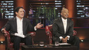 SHARK TANK - &quot;Episode 306&quot; - It becomes obvious to the Sharks that three ice cream makers from Old Lyme, CT don't have much money sense when pitching their beer-infused flavored ice cream. A man from Englewood, CO brings his dog along to demonstrate how his pre-packaged meals for pets work. It gets loud when two women from Los Angeles, CA hope the Sharks will gear up to make a deal with their line of protective safety wear for motorcycle enthusiasts. A young, street-smart entrepreneur from Venice, CA wants the Sharks to go into his clothing business that allows people to digitally put images on any garment, turning it into wearable art. Also, a follow-up on Randy &amp; Darryl Lanz from Peachtree City, Georgia and their Ride On Carry On luggage attachment, which Barbara invested in during Season 2, on &quot;Shark Tank,&quot; FRIDAY, MARCH 23 (8:00-9:01 p.m., ET) on the ABC Television Network. (ABC/MICHAEL ANSELL) MARK CUBAN, DAYMOND JOHN