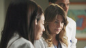 GREY'S ANATOMY - &quot;It's a Long Way Back&quot; - Everyone pulls together to help Callie and baby Sofia on their painstaking journeys to recovery in hopes of allowing mother and baby to finally meet; the sudden death of a clinical trial patient has Derek proceeding with more caution while Meredith makes a calculated and risky move; Alex treats a cranky old rich woman dying of cancer and gets an idea for a grandiose endeavor that is sure to get him the Chief Resident spot; and Teddy is pleasantly surprised by the return of a familiar face, on &quot;Grey's Anatomy,&quot; THURSDAY, APRIL 28 (9:00-10:01 p.m., ET) on the ABC Television Network. (ABC/ADAM LARKEY) CHYLER LEIGH, SANDRA OH, ELLEN POMPEO, JESSE WILLIAMS