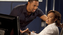 "GREY'S ANATOMY - ""Migration"" - The residents determine their future as they make their final decisions regarding post residency positions; Mark admits to Derek that he is torn between his love for Lexie and the fact that Julia can give him everything he's ever wanted; Ben plans something extra special for Bailey, but she is preoccupied with her work; and Arizona encourages her childhood friend, Nick, to have surgery. Meanwhile a couple on their third honeymoon come to the hospital complaining of mysterious symptoms, on Grey's Anatomy, THURSDAY, MAY 10 (9:00-10:01 p.m., ET) on the ABC Television Network. (ABC/RANDY HOLMES) JASON JORGE, CHANDRA WILSON"