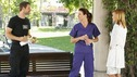 "PRIVATE PRACTICE - ""Nothing to Talk About"" - Charlotte tries to woo Addison to St. Ambrose Hospital with promises of surgeries, as Addison and Kevin's relationship heats up. Meanwhile Sam questions his ability to save Oceanside Wellness from financial ruin, Pete's firefighter patient suffers an unusual form of post-traumatic stress disorder, and Violet is threatened by a patient's son, on ""Private Practice,"" WEDNESDAY, OCTOBER 22 (9:00-10:01 p.m., ET) on the ABC Television Network. (ABC/CRAIG SJODIN) DAVID SUTCLIFFE, KATE WALSH, KaDEE STRICKLAND"