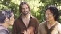 "LOST - ""LaFleur"" - Sawyer perpetuates a lie with some of the other island survivors in order to protect themselves from mistakes of the past, on ""Lost,"" WEDNESDAY, MARCH 4 (9:00-10:02 p.m., ET) on the ABC Television Network. (ABC/MARIO PEREZ) KEN LEUNG, JOSH HOLLOWAY, DANIEL DAE KIM"
