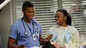 "GREY'S ANATOMY - ""Things We Said Today"" - Bailey puts her wedding day on hold and continues her efforts to save Adele's life, Cristina and Owen remain undecided about their pending divorce, while Arizona and Callie try to get their spark back. Meanwhile, the hospital becomes inundated with a group of bikers after a horrible accident, on ""Grey's Anatomy,"" THURSDAY, JANUARY 10 (9:00-10:02 p.m., ET) on the ABC Television Network. (ABC/KELSEY MCNEAL) GAIUS CHARLES, JERRIKA HINTON"