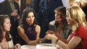 "DESPERATE HOUSEWIVES - ""Gossip"" - Gaby shows off her giant rock, on ""Desperate Housewives,"" SUNDAY, APRIL 29 (9:00-10:02 p.m., ET) on the ABC Television Network. (ABC/DANNY FELD) EVA LONGORIA, FELICITY HUFFMAN"