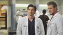 "GREY'S ANATOMY - ""Life During Wartime"" - Derek and Mark discuss the new chief of trauma, Owen Hunt, on ""Grey's Anatomy,"" THURSDAY, OCTOBER 30 (9:00-10:01 p.m., ET) on the ABC Television Network. (ABC/ERIC MCCANDLESS) PATRICK DEMPSEY, ERIC DANE"