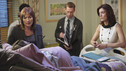 "PRIVATE PRACTICE - ""Eyes Wide Open"" - When famed neurosurgeon Dr. Ginsberg and her team pay a visit to St. Ambrose to save the life of Kayla, Addison is shocked to see Amelia Shepherd - Derek's younger sister on the team. But Amelia's presence causes strife between Addison, Sam and Pete when she claims she can save Kayla's life after Dr. Ginsberg declares nothing can be done. Meanwhile Charlotte seeks from Cooper's with a sex education seminar for the elderly that only leads to more tension between the two, as they try to figure out how to work together, on ""Private Practice,"" THURSDAY, APRIL 1 (10:01-11:00 p.m., ET) on the ABC Television Network. (ABC/ADAM LARKEY) NORA DUNN, KATE WALSH"