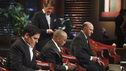 SHARK TANK - &quot;Episode 312&quot; - The Sharks start a feeding frenzy for a chance to go into the residential lock business with a man from Orlando, FL who invented a way to incorporate the common key into a mobile phone. Two fitness trainers from Medina, OH hope to convince the Sharks their home gym is better since it provides nitrogen gas-pressured resistance. A young man from Trophy Club, TX asks the Sharks to invest in his age-defying products that were inspired by his older girlfriend. A father from Charlotte, NC designed a 100% recycled sneaker and hopes to get a business deal that he can eventually pass on to his two young sons. Also, a follow-up on Daymond and Mark's Season 3 investment with Alashe Nelson from Miami, FL and his EZ VIP website - where you can buy VIP treatment at nightclubs and special events. Daymond introduces Alashe to Pit Bull, the international superstar who will endorse the business, on the Season Finale of &quot;Shark Tank,&quot; FRIDAY, MAY 18 (8:00-9:01 p.m., ET) on the ABC Television Network.  (ABC/RICHARD CARTWRIGHT) MARK CUBAN, ROBERT HERJAVEC, DAYMOND JOHN, KEVIN O'LEARY