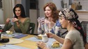 "DESPERATE HOUSEWIVES - ""Smiles of a Summer Night"" - Lynette, Susan and Katherine have tea with the rest of the housewives. SUNDAY, OCTOBER 7 (9:00-10:01 p.m., ET) on the ABC Television Network. (ABC/RON TOM) TERI HATCHER, DANA DELANY, FELICITY HUFFMAN"