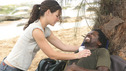 "LOST - ""Born to Run"" - Kate and Michael. Jack suspects foul play when Michael becomes violently ill while building the raft, on ""Lost,"" THURSDAY, MAY 11 on the ABC Television Network. (ABC/MARIO PEREZ) EVANGELINE LILLY, HAROLD PERRINEAU"
