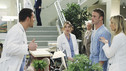 "GREY'S ANATOMY - ""Sympathy for the Parents"" - When Alex's younger brother, Aaron, shows up at Seattle Grace-Mercy West with a hernia, it's up to Alex to get Bailey's approval for his pro bono surgery. Matters are further complicated when Aaron discloses that his family has not heard from Alex since he arrived in Seattle, and parts of Alex's past long kept secret are revealed to his friends and fellow doctors, on ""Grey's Anatomy,"" THURSDAY, APRIL 1 (9:00-10:01 p.m., ET) on the ABC Television Network. (ABC/RON TOM) JUSTIN CHAMBERS, ELLEN POMPEO, JAKE MCLAUGHLIN, CHYLER LEIGH"