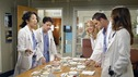"GREY'S ANATOMY - ""Desire"" - As the interns of Seattle Grace cram for their upcoming exam, the attendings vie for the Chief's position by tending to the chairman of the hospital board after he's admitted as a patient. Meanwhile, Burke struggles to involve Cristina in the wedding planning, things heat up between Addison and Alex, and Derek questions his relationship with Meredith, on ""Grey's Anatomy,"" THURSDAY, APRIL 26 (9:00-10:01 p.m., ET) on the ABC Television Network. (ABC/GALE ADLER) SANDRA OH, T.R. KNIGHT, KATHERINE HEIGL, JUSTIN CHAMBERS, ELLEN POMPEO"