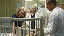 "GREY'S ANATOMY - ""Do You Believe In Magic"" - The doctors reach out to Bailey but she continues to shut everyone out; after an incident with Ethan's grandmother, Owen fears the child could end up in foster care; and a new craniofacial specialist (Hilarie Burton) arrives at Grey Sloan Memorial Hospital to work on a young patient; meanwhile, a magician's assistant is rushed into the ER after a magic trick goes terribly wrong, on ""Grey's Anatomy,"" THURSDAY, MAY 2 (9:00-10:02 p.m., ET) on the ABC Television Network. (ABC/Ron Tom) HILARIE BURTON, JESSICA CAPSHAW, JESSE WILLIAMS"