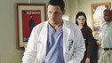 "GREY'S ANATOMY - ""Shiny Happy People"" - An elderly patient admitted into the E.R. for a heart condition sees a familiar face, a long lost love who happens to be in the E.R. as well for a fractured arm, and the staff find themselves caught up in their love story. Meanwhile, Karev treats a troubled teenage patient (guest star Demi Lovato) whose parents brought her in for schizophrenia, and Meredith can't help but tell Cristina about her suspicions of Owen -- which inevitably messes with Cristina's head -- on ""Grey's Anatomy,"" THURSDAY, MAY 13 (9:00-10:01 p.m., ET) on the ABC Television Network. (ABC/RON TOM) JUSTIN CHAMBERS"