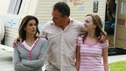 "DESPERATE HOUSEWIVES - ""Remember"" - A series of flashbacks take us back to moving-in day on Wisteria Lane for Bree, Susan, Gaby and Lynette, and to how Mary Alice Young brought them all together. Meanwhile Bree gets some frightening news, Susan moves into a trailer, Lynette discovers Tom's secret and all is not well in the house of Solis, on the two-hour Second-Season finale of ""Desperate Housewives,"" SUNDAY, MAY 21 (9:00-11:00 p.m., ET) on the ABC Television Network. (ABC/RON TOM) TERI HATCHER, RICHARD BURGI, ANDREA BOWEN"