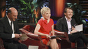 SHARK TANK - &quot;Episode 312&quot; - The Sharks start a feeding frenzy for a chance to go into the residential lock business with a man from Orlando, FL who invented a way to incorporate the common key into a mobile phone. Two fitness trainers from Medina, OH hope to convince the Sharks their home gym is better since it provides nitrogen gas-pressured resistance. A young man from Trophy Club, TX asks the Sharks to invest in his age-defying products that were inspired by his older girlfriend. A father from Charlotte, NC designed a 100% recycled sneaker and hopes to get a business deal that he can eventually pass on to his two young sons. Also, a follow-up on Daymond and Mark's Season 3 investment with Alashe Nelson from Miami, FL and his EZ VIP website - where you can buy VIP treatment at nightclubs and special events. Daymond introduces Alashe to Pit Bull, the international superstar who will endorse the business, on the Season Finale of &quot;Shark Tank,&quot; FRIDAY, MAY 18 (8:00-9:01 p.m., ET) on the ABC Television Network.  (ABC/RICHARD CARTWRIGHT) KEVIN O'LEARY, BARBARA CORCORAN, ROBERT HERJAVEC