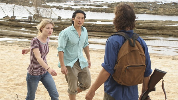 "LOST - ""Par Avion"" - Claire becomes suspicious of Charlie when he exhibits peculiar behavior after she comes up with an idea that could get everybody rescued. Meanwhile, tensions mount between Sayid and Locke as they continue their trek to rescue Jack, on ""Lost,"" WEDNESDAY, MARCH 14 (10:00-11:00 p.m., ET), on the ABC Television Network. (ABC/MARIO PEREZ)YUNJIN KIM, EMILIE DE RAVIN, DANIEL DAE KIM, HENRY IAN CUSICK"