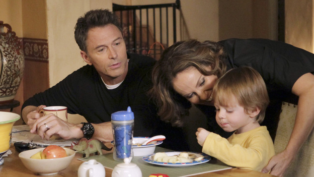 PRIVATE PRACTICE - &quot;Are You My Mother?&quot; -- Cooper struggles with whether or not to punish Mason after he catches him stealing; Pete and Violet find it hard to split time with Lucas now that they're living apart; Addison makes changes in her home life to prepare for a potential new baby; Violet and Jake work with two women and a man involved in a polyamorous triad; meanwhile Amelia returns to the practice and realizes how badly she hurt Sheldon when she was abusing drugs, on &quot;Private Practice,&quot; THURSDAY, JANUARY 5 (10:02-11:00 p.m., ET) on the ABC Television Network. (ABC/KAREN NEAL)TIM DALY, AMY BRENNEMAN, JACK/JOEY BOBO