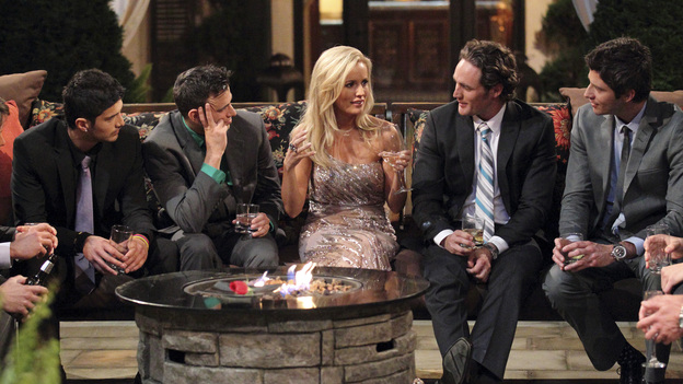 """THE BACHELORETTE - On the premiere, """"Episode 801,"""" Emily's journey begins in her hometown of Charlotte, North Carolina, where she lives with her six-year-old daughter, Ricki. After saying """"good night"""" to Ricki, Emily arrives at a southern mansion where she meets her 25 potential soulmates who have traveled across the country. They include a biology teacher, a mushroom farmer, a marine biologist and a ex-professional football player. Emily is nervous, but her anxiety slips away and soon turns to laughter as a single dad produces a glass slipper and proclaims her a princess; a youthful entrepreneur swoops in on a skateboard; a party MC shows off his dance moves; and a southern gentleman brings something special that symbolizes his dedication to protecting her and Ricki. But although one man's grand entrance in a helicopter impresses Emily, it only makes him a target of jealousy and ridicule from the other bachelors, in the eighth edition of """"The Bachelorette,"""" the female version of ABC's hit romance reality series, premiering MONDAY, MAY 14 (9:31-11:00 p.m., ET), on the ABC Television Network. (ABC/CRAIG SJODIN)ALEJANDRO, STEPHEN, EMILY MAYNARD, JOSEPH, ARIE"""