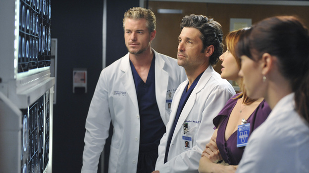 GREY'S ANATOMY - &quot;Suddenly&quot; - A severe car crash involving an entire family results in an all-hands-on situation in the ER, as the eldest daughter is left to make the toughest decision of her life. Meanwhile Teddy, still in the dark about Henry's death, calls upon Cristina to help with her patient in the O.R., and Lexie finds herself working alongside Mark's new girlfriend, Julia, during an eye surgery on Grey's Anatomy, THURSDAY, JANUARY 5 (9:00-10:02 p.m., ET) on the ABC Television Network. (ABC/RICHARD FOREMAN)ERIC DANE, PATRICK DEMPSEY, HOLLEY FAIN, CHYLER LEIGH