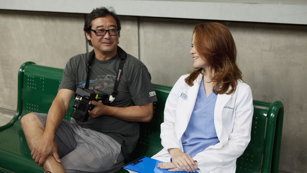 "GREY'S ANATOMY - ""Free Falling"" - In the first hour, ""Free Falling"" (9:00-10:00 p.m.), the fifth-year residents return for the first day of a year that will make or break their careers: Meredith faces the consequences of tampering with Derek's clinical trial and is terminated at the hospital; April tries to step up to the plate as Chief Resident in the wake of a giant sinkhole in the middle of Seattle; and Cristina and Owen are still at odds over their drastically different feelings for their unborn child. ""Grey's Anatomy"" returns for its eighth season with a two-hour event THURSDAY, SEPTEMBER 22 (9:00-11:00 p.m., ET) on the ABC Television Network. (ABC/RANDY HOLMES)SARAH DREW"