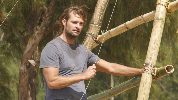 "LOST - ""Born to Run"" - Sawyer works on the raft. Jack suspects foul play when Michael becomes violently ill while building the raft, on ""Lost,"" THURSDAY, MAY 11 on the ABC Television Network. (ABC/MARIO PEREZ) JOSH HOLLOWAY"