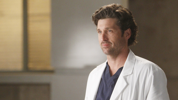 GREY'S ANATOMY - &quot;Dark Was the Night&quot; - Teddy puts her husband's life in the hands of her peers when Henry is sent to the OR for surgery and she's called away on another case; Meredith and Derek receive the long-awaited news about Zola; Callie and Jackson come under fire when their patient experiences post-surgery complications; and Meredith and Alex are involved in a life-threatening situation when they travel to a neighboring hospital to tend to a sick newborn, on Grey's Anatomy, THURSDAY, NOVEMBER 10 (9:00-10:02 p.m., ET) on the ABC Television Network. (ABC/JORDIN ALTHAUS)PATRICK DEMPSEY