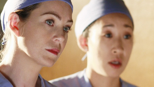 "GREY'S ANATOMY - ""In The Midnight Hour"" - Meredith and Cristina check in on the Interns, on ""Grey's Anatomy,"" THURSDAY, NOVEMBER 20 (9:00-10:01 p.m., ET) on the ABC Television Network.  (ABC/RON TOM) ELLEN POMPEO, SANDRA OH"