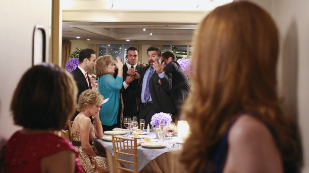 "DESPERATE HOUSEWIVES - ""We're So Happy You're Happy"" - Gaby and Bree look on as Carlos gets removed from his table."
