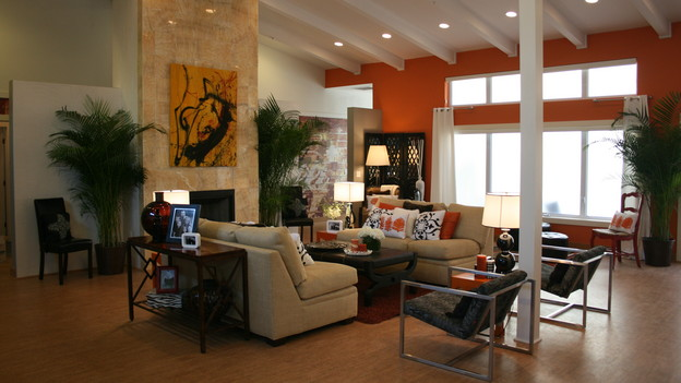 EXTREME MAKEOVER HOME EDITION - &quot;Wagstaff Family,&quot; - Living Room, on &quot;Extreme Makeover Home Edition,&quot; Sunday, February 21st on the ABC Television Network.