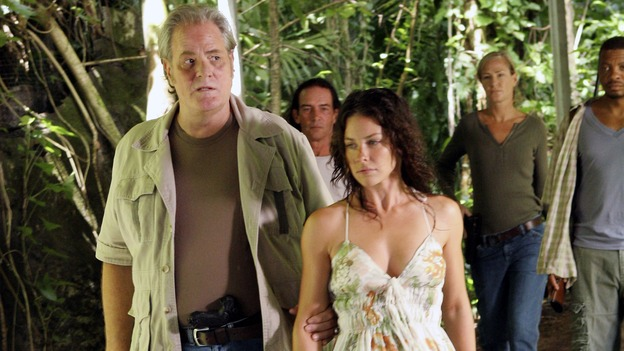 LOST -- &quot;Lost&quot; - awarded the 2005 Emmy and 2006 Golden Globe for best drama series - is back for a third season of action-packed mystery and adventure that will continue to bring out the very best and the very worst in the people who are lost. In the season premiere episode, &quot;A Tale of Two Cities,&quot; Jack, Kate and Sawyer begin to discover what they are up against as prisoners of &quot;The Others.&quot; The season premiere airs WEDNESDAY, OCTOBER 4 (9:00-10:01 p.m., ET), on the ABC Television Network. (ABC/MARIO PEREZ)M.C. GAINEY, EVANGELINE LILY