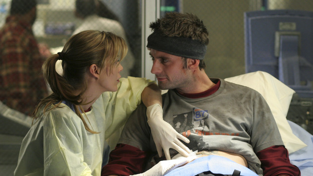 "102004_9818 -- COMPLICATIONS - ""WINNING A BATTLE, LOOSING A WAR"" (ABC/MICHAEL ANSELL)ELLEN POMPEO, CALLUM BLUE"