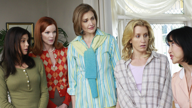DESPERATE HOUSEWIVES - &quot;The Best Thing That Ever Could Have Happened&quot; - The housewives await Gaby's entrance.