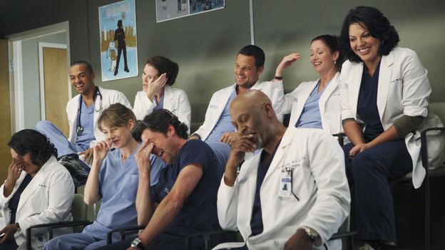 "GREY'S ANATOMY - ""Disarm"" - News of the incoming mass causalities after a gunman opens fire at a local college hits the staff hard when they must spring into action, even while their own wounds are still fresh; and Arizona does not receive a warm welcome home at the hospital, on ""Grey's Anatomy,"" THURSDAY, JANUARY 6 (9:00-10:01 p.m., ET) on the ABC Television Network. (ABC/ADAM LARKEY)CHANDRA WILSON, JESSE WILLIAMS, ELLEN POMPEO, SARAH DREW, PATRICK DEMPSEY, JUSTIN CHAMBERS, JAMES PICKENS JR., CHYLER LEIGH, SARA RAMIREZ"