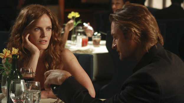 "LOST - ""Recon"" - Locke tasks Sawyer with a mission, on ""Lost,"" TUESDAY, MARCH 23 (9:00-10:00 p.m., ET) on the ABC Television Network.  (ABC/MARIO PEREZ) REBECCA MADER, JOSH HOLLOWAY"