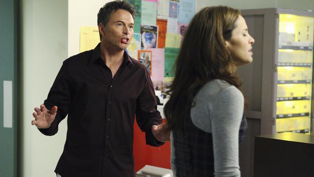 "PRIVATE PRACTICE - ""Blowups"" - Two back-to-back episodes of ""Private Practice"" air on THURSDAY, DECEMBER 3. In the second episode, ""Blowups"" (10:00-11:00 p.m.), a terrible explosion at Dell's house lands Betsey and Heather in the hospital, and everyone is pushed to the limit trying to save their lives. Tensions rise even higher between Addison and The Captain when her mother, Bizzy, shows up and a shocking family secret is revealed. (ABC/CRAIG SJODIN)TIM DALY, AMY BRENNEMAN"