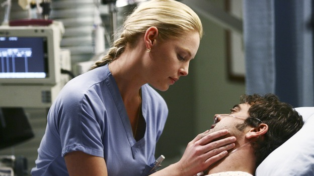 GREY'S ANATOMY - &quot;Superstition&quot; - When a series of deaths occur at Seattle Grace, the uncanny events bring out the doctors' superstitious sides and make Izzie nervous about Denny's surgery. Meanwhile, Derek and Addison discuss making a more permanent living arrangement, and Richard treats a very special, old friend, on &quot;Grey's Anatomy,&quot; SUNDAY, MARCH 19 (10:00-11:00 p.m., ET) on the ABC Television Network. (ABC/SCOTT GARFIELD)KATHERINE HEIGL, JEFFREY DEAN MORGAN