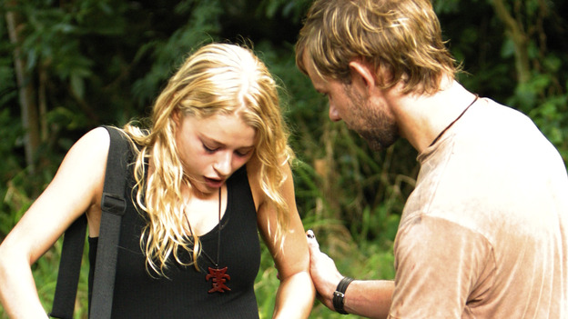 LOST - &quot;Raised By Another&quot; - Jack, Kate and Charlie wonder if Claire's disturbing nightmares might be coming true to threaten her life and the life of her unborn child, and a missing castaway returns with frightening news about what lies just beyond the mountains, on &quot;Lost,&quot; WEDNESDAY, DECEMBER 1 (8:00-9:01 p.m., ET), on the ABC Television Network. (ABC/MARIO PEREZ) EMILIE DE RAVIN, DOMINIC MONAGHAN