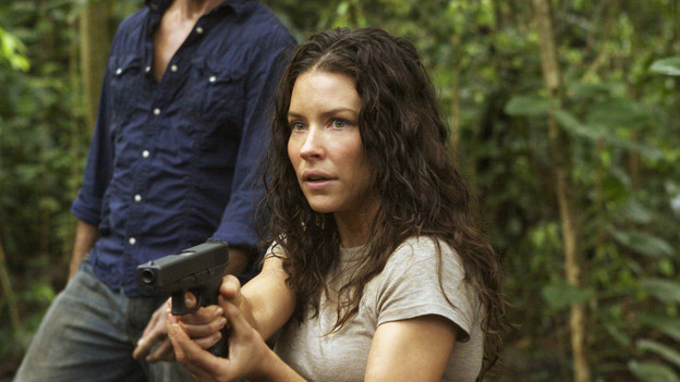 "LOST - ""The Candidate"" - Jack must decide whether or not to trust Locke after he is asked to follow through on a difficult task, on ""Lost,"" TUESDAY, MAY 4 (9:00-10:02 p.m., ET) on the ABC Television Network. (ABC/MARIO PEREZ) JOSH HOLLOWAY, EVANGELINE LILLY"