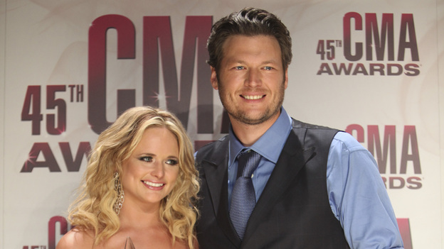 "THE 45th ANNUAL CMA AWARDS - GENERAL - ""The 45th Annual CMA Awards"" broadcast live on ABC from the Bridgestone Arena in Nashville on WEDNESDAY, NOVEMBER 9 (8:00-11:00 p.m., ET). (ABC/SARA KAUSS) MIRANDA LAMBERT, BLAKE SHELTON"