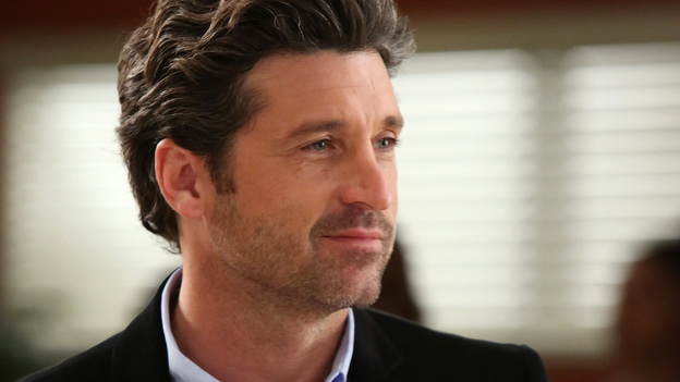 "GREY'S ANATOMY - ""The End is the Beginning is the End"" - Meredith, Derek, Cristina and Arizona receive big news regarding the plane crash lawsuit, Richard avoids Catherine's romantic advances and Jackson takes on one of Mark Sloane's old patients. Meanwhile, Derek begins recovery on his hand, on ""Grey's Anatomy,"" THURSDAY, JANUARY 17 (9:00-10:02 p.m., ET) on the ABC Television Network. (ABC/DANNY FELD)PATRICK DEMPSEY"