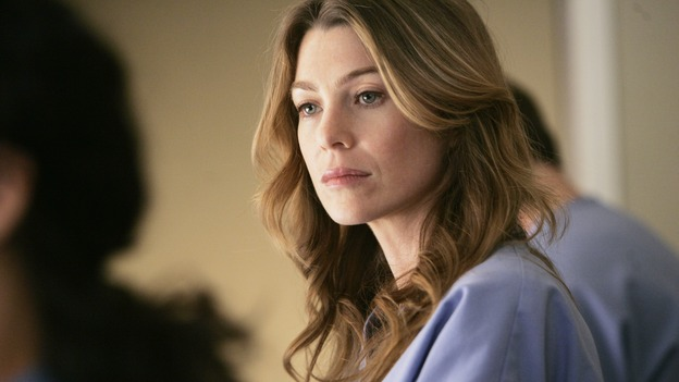 GREY'S ANATOMY - &quot;Name of the Game&quot; - George begins to overstay his welcome at Burke's apartment; Meredith learns a secret about her father; Bailey worries her colleagues will not treat her the same now that she's a mother; and Alex gets a lesson in bedside manners, on &quot;Grey's Anatomy,&quot; SUNDAY, APRIL 2 (10:00-11:00 p.m., ET) on the ABC Television Network. (ABC/PETER &quot;HOPPER&quot; STONE)ELLEN POMPEO