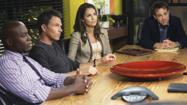 PRIVATE PRACTICE - &quot;Short Cuts&quot; - Violet and Cooper make amendments to their friendship in order to please their significant others; Pete and Cooper get in an argument involving marijuana use by a patient (guest starring Justine Bateman as Sydney); Addison is conflicted about going public with her new romance, and Sheldon's decision to deny approval for a patient's sex change backfires, on &quot;Private Practice,&quot; THURSDAY, SEPTEMBER 30 (10:01-11:00 p.m., ET) on the ABC Television Network. (ABC/ADAM TAYLOR)TAYE DIGGS, TIM DALY, AMY BRENNEMAN, PAUL ADELSTEIN