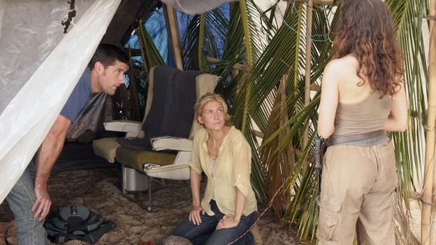 LOST - &quot;Greatest Hits&quot; - While Jack devises a plan to do away with &quot;The Others&quot; once and for all, Sayid uncovers a flaw in &quot;The Others'&quot; system that could lead to everyone's rescue. But it requires Charlie to take on a dangerous task that may make Desmond's premonition come true, on &quot;Lost,&quot; WEDNESDAY, MAY 16 (10:00-11:00 p.m., ET), on the ABC Television Network. (ABC/MARIO PEREZ)MATTHEW FOX, ELIZABETH MITCHELL, MIRA FURLAN
