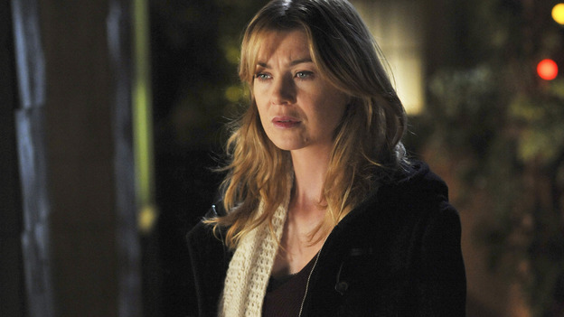 "GREY'S ANATOMY- ""Here Comes the Flood"" - Dr. Meredith Grey, on ""Grey's Anatomy,"" THURSDAY, OCTOBER 9 (9:00-10:01 p.m., ET) on the ABC Television Network. (ABC/ERIC McCANDLESS) ELLEN POMPEO"