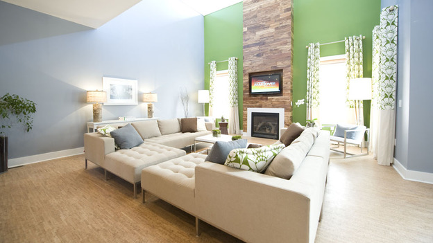 EXTREME MAKEOVER HOME EDITION - &quot;Hill Family,&quot; - Living Room  Picture, on  &quot;Extreme Makeover Home Edition,&quot; Sunday, April 24th     (8:00-9:00 p.m.  ET/PT) on the ABC Television Network.