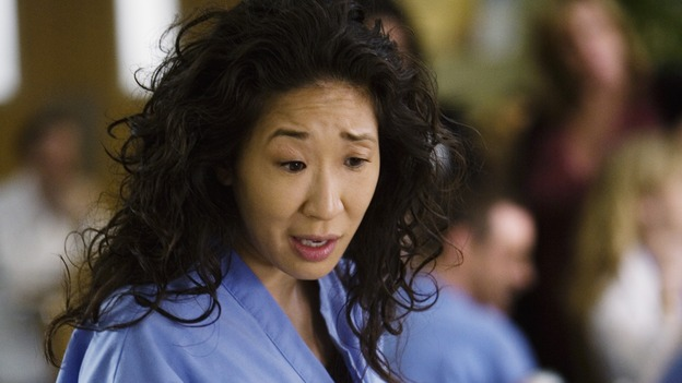 "GREY'S ANATOMY - ""Beat Your Heart Out"" - Dr. Cristina Yang, on ""Grey's Anatomy,"" THURSDAY, FEBRUARY 5 (9:00-10:02 p.m., ET) on the ABC Television Network. (ABC/RANDY HOLMES) SANDRA OH"