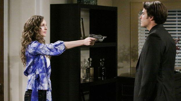 Alicia Minshew as Kendall Hart, Eddie Matos as Ricky Torres