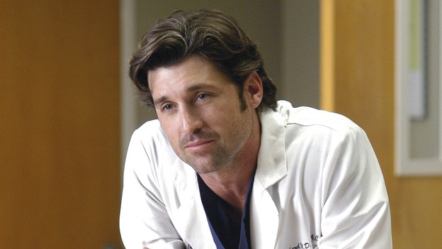 "GREY'S ANATOMY - ""What I Am"" - Addison doubts her abilities as a doctor, Cristina pushes Burke's rehabilitation, one of the interns suffers their own medical emergency, and Izzie receives the surprise of her life, on ""Grey's Anatomy,"" THURSDAY, OCTOBER 12 (9:00-10:01 p.m., ET) on the ABC Television Network. (ABC/GALE ADLER)PATRICK DEMPSEY"