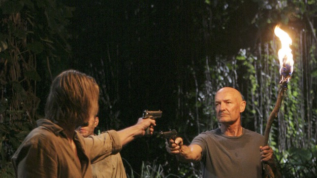 "LOST - ""Something Nice Back Home"" (ABC/MARIO PEREZ) JOSH HOLLOWAY, MICHAEL EMERSON (OBSCURED), TERRY O'QUINN"