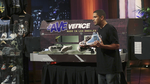 SHARK TANK - &quot;Episode 306&quot; - It becomes obvious to the Sharks that three ice cream makers from Old Lyme, CT don't have much money sense when pitching their beer-infused flavored ice cream. A man from Englewood, CO brings his dog along to demonstrate how his pre-packaged meals for pets work. It gets loud when two women from Los Angeles, CA hope the Sharks will gear up to make a deal with their line of protective safety wear for motorcycle enthusiasts. A young, street-smart entrepreneur from Venice, CA wants the Sharks to go into his clothing business that allows people to digitally put images on any garment, turning it into wearable art. Also, a follow-up on Randy &amp; Darryl Lanz from Peachtree City, Georgia and their Ride On Carry On luggage attachment, which Barbara invested in during Season 2, on &quot;Shark Tank,&quot; FRIDAY, MARCH 23 (8:00-9:01 p.m., ET) on the ABC Television Network. (ABC/MICHAEL ANSELL)NICK ROMERO (THE AVE)